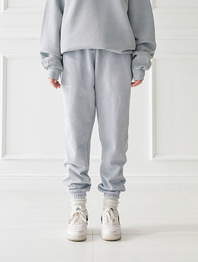 seoul city jogger pants (washed babyblue)