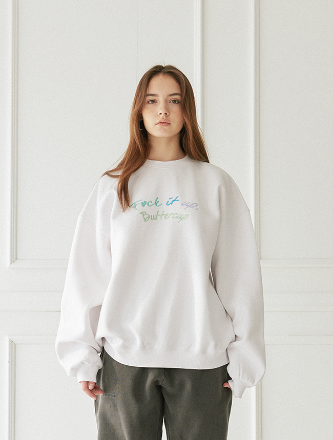 Buttercup Crewneck (White)