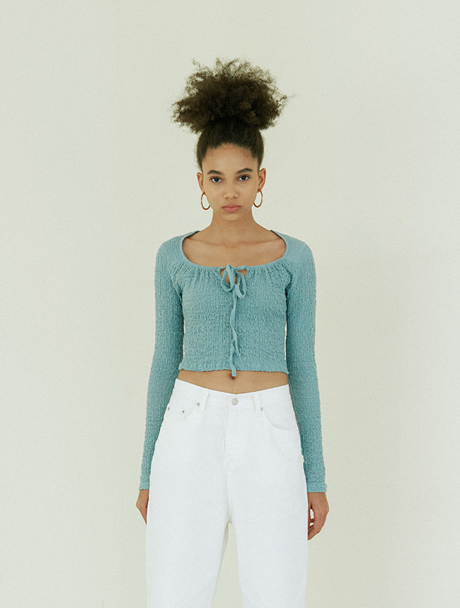 String long sleeve dusty mint