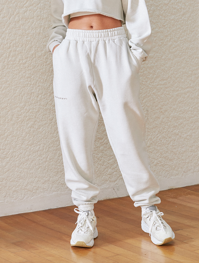 seoul city jogger pants (washed ivory)
