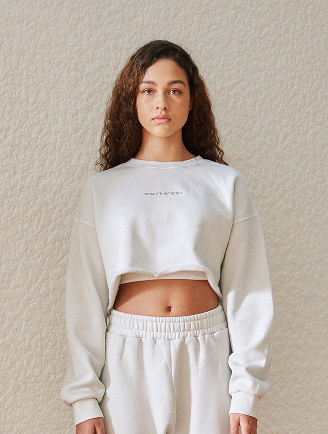 seoul city sweatshirt (washed ivory)
