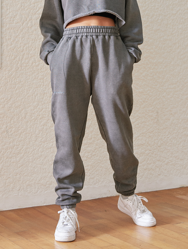seoul city jogger pants (washed grey)