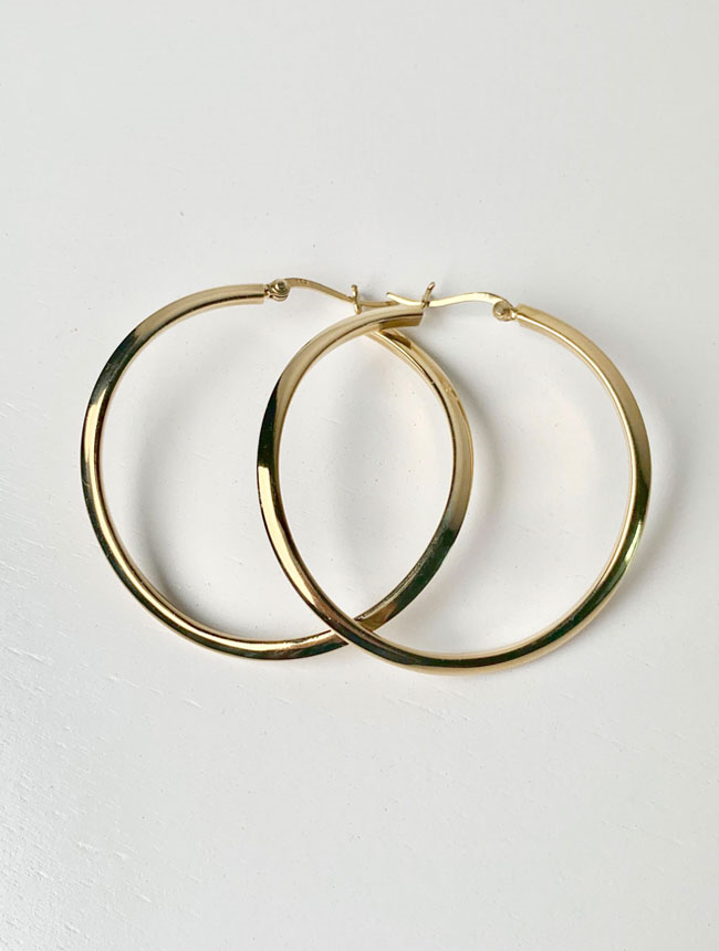 Twisted large kenny hoops