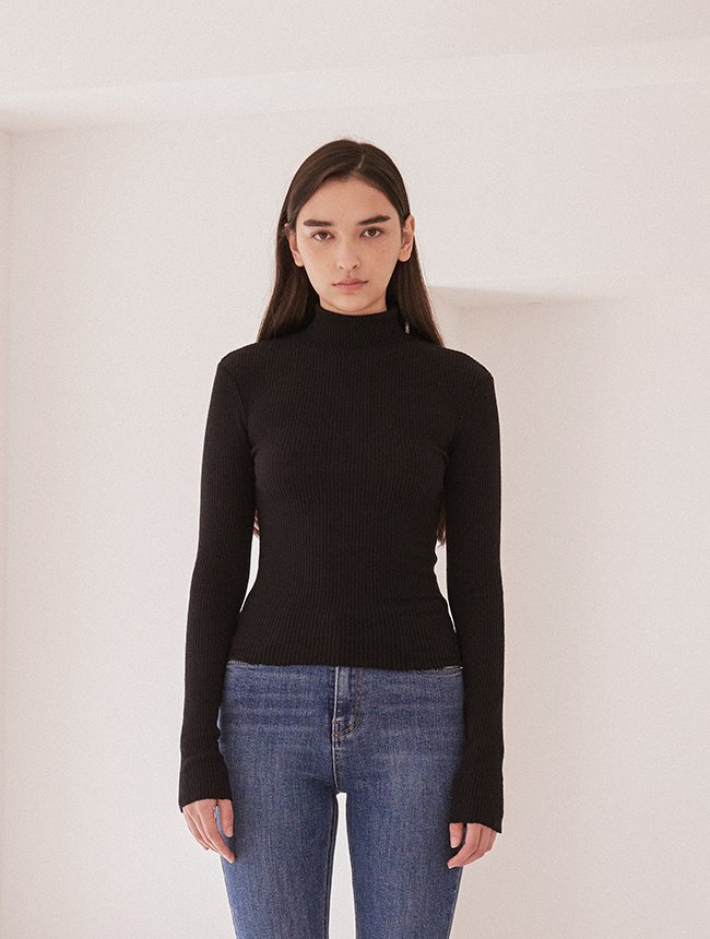 Backless turtleneck [Black]