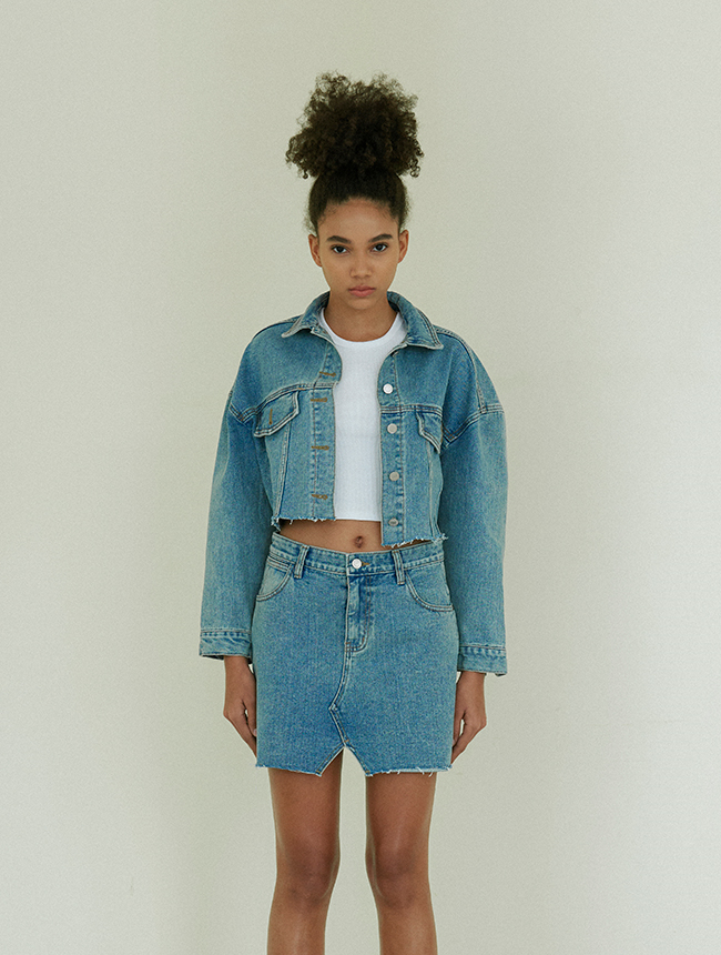 Vintage denim jacket blue