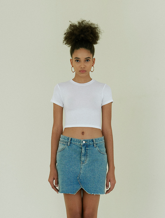 Signature croptop white