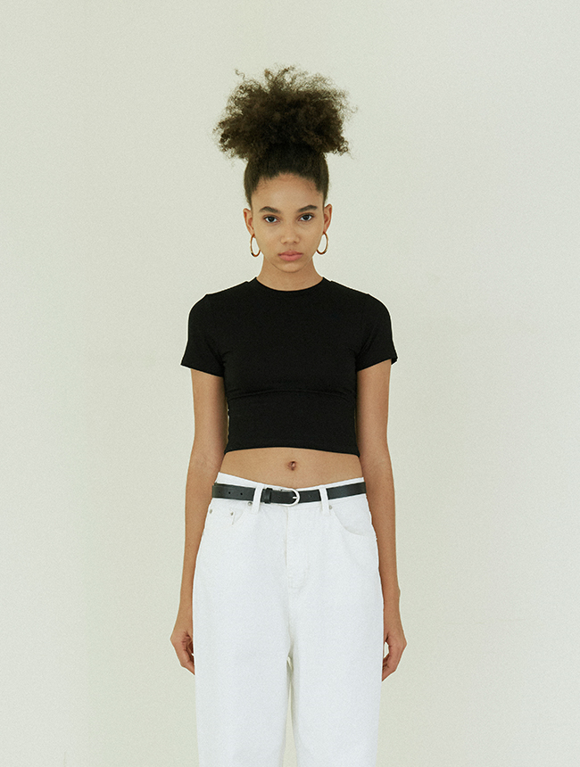 Signature croptop black
